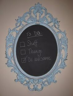 I love this mirror from Ikea, but the black plastic looks a little cheap.  This is a great idea and multipurpose.