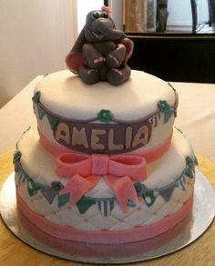Babtism cake, elephant theme