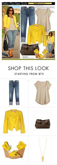 """""""Pretty Plus-Size Style and PaoloShoes"""" by spenderellastyle ❤ liked on Polyvore featuring Current/Elliott, Calypso St. Barth, Band of Outsiders and Rebecca Minkoff"""