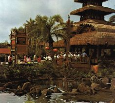 tiki room, sunshine pavillion, walt disney world 1970's. This was my great-Grandma's favorite thing in Disneyland.
