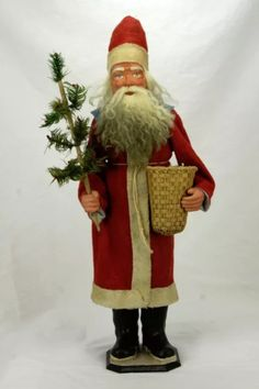 Antique German Santa Candy Container in Collectibles, Holiday &… German Christmas, Christmas Past, Victorian Christmas, Primitive Christmas, Vintage Christmas Ornaments, Father Christmas, Christmas Items, Christmas Candy, Christmas Decorations