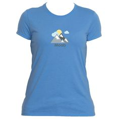 Moab, Utah Mountains and Clouds in Color - Women's Moisture Wicking T-Shirt