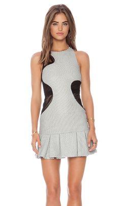 Shop for Three Floor Sola Dress in White & Black at REVOLVE. Three Floor, Revolve Clothing, Ladies Dress Design, Amazing Women, Designer Dresses, Nice Dresses, Cool Style, White Dress, High Neck Dress