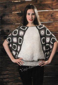 Пуловер с рукавом летучая мышь