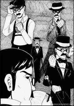 Fernando Pessoa and his Heteronyms by HenLP.deviantart.com on @DeviantArt