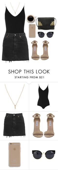 """Untitled #492"" by marta-andrade ❤ liked on Polyvore featuring Yves Saint Laurent, Topshop, Steve Madden, Agent 18 and ASOS"