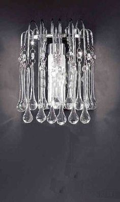 Crystal Wall Lamp Sconce Light Fixture New | eBay