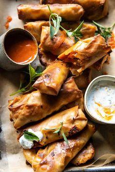 Chicken Egg Rolls, Chicken Spring Rolls, Chicken Eggs, Buffalo Recipe, Half Baked Harvest, The Ranch, Dinner Recipes, Fancy Recipes, Dinner Ideas