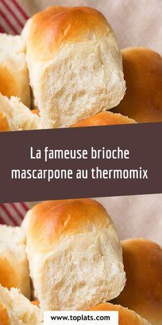 La fameuse brioche mascarpone au thermomix