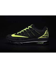new product 1da94 d8e99 Homme Nike Air Max 2016 Ii Kpu Noir Vert Chaussures