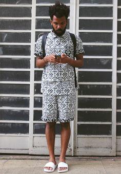 Look Masculino com Chinelo Slide Branco (1)