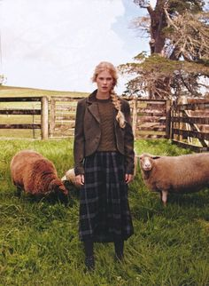 theclotheshorse: field trip, millicent lambert photographed by craig owen for fashion nz Perfection. British Country Style, Mode Country, Country Stil, Country Life, Country Girls, Country Wear, Farm Fashion, Irish Fashion, Country Fashion