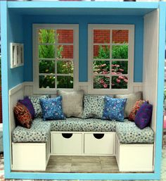 Love this simple window seat roombox