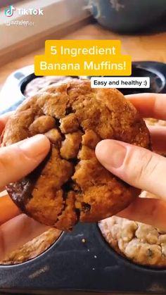 Healthy Sweets, Healthy Baking, Healthy Snacks, Tasty Videos, Food Videos, Fun Baking Recipes, Cooking Recipes, Easy Snacks, Breakfast Recipes