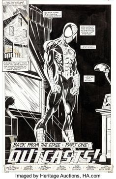 Original Comic Art:Splash Pages, Mark Bagley and Larry Mahlstedt Amazing Spider-Man Page 4 Original Art (Marvel, Marvel Comic Character, Marvel Comic Books, Marvel Art, Comic Books Art, Stan Lee Spiderman, Spiderman Art, Anime Comics, Marvel Comics, Mark Bagley