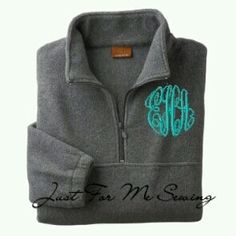 Monogrammed fleece  ***grey and blue like the picture preferably- try etsy or somewhere online idk