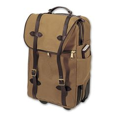 www.Filson.com   Wheeled Carry-On Bag: A carry-on with good looks...that's built like a tank. #Filson #travel #carryon #luggage