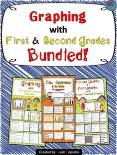 1.MD.4 Graphing {With First and Second Grades} Bundled! Included are: Graphing {With 1st and 2nd Graders: Picture Graphs and Pictographs}, Fall Graphing, and Graphing {With First and Second Grades}
