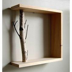 Estantería con rama #decoración #original #estantería