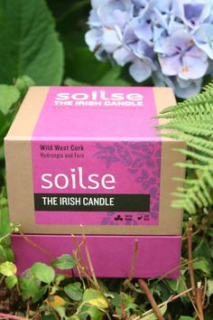 The Soilse Wild west Cork artisan soy wax candle evokes the childhood memories of Summertime on Lough Ine in West Cork, Ireland.  soilsecandlecompany.com