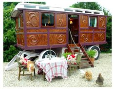 I think it would be great to have a gypsy wagon in my garden as a private hide-a-way