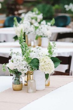 Rustic chic wedding party flowers! See more party planning ideas at CatchMyParty.com!
