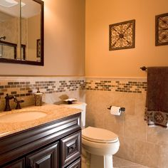 This is exactly how I want our bathroom, just a little lighter on the color palette. :-)