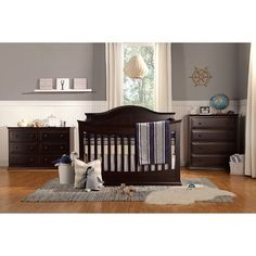 DaVinci Meadow Convertible Crib with Toddler Bed Conversion Kit in Dark Java Java, Brown Crib, Best Crib, Convertible Crib, Full Bed, Crib Mattress, Nursery Furniture, Painted Furniture, Baby Cribs