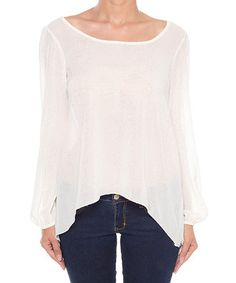 Another great find on #zulily! Ivory Hi-Low Cutout Top by Coveted Clothing #zulilyfinds