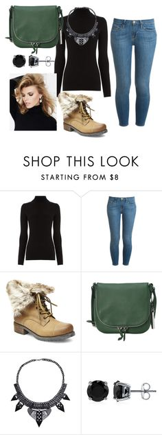 """""""black"""" by ri-hab on Polyvore featuring Warehouse, Frame Denim, Steve Madden, Vince Camuto, BERRICLE and SUITEBLANCO"""
