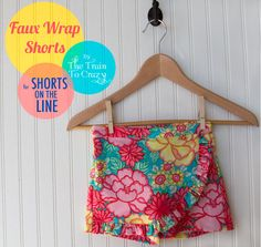 {tutorial} Faux Wrap Shorts .