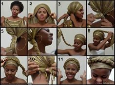 Turban - Recipes,Hair And Hair Wrap Scarf, Curly Hair Styles, Natural Hair Styles, Twisted Hair, Pelo Afro, African Head Wraps, Turban Style, Scarf Hairstyles, Black Hairstyles