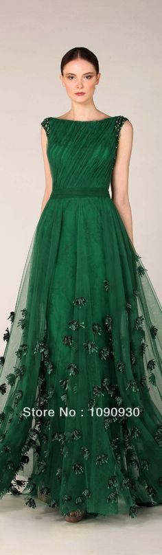o-neck prom dress long tulle party dress appliques ball gowns sleeves party dress, Shop plus-sized prom dresses for curvy figures and plus-size party dresses. Ball gowns for prom in plus sizes and short plus-sized prom dresses for Beautiful Gowns, Beautiful Outfits, Beautiful Forest, Gorgeous Dress, Beautiful Clothes, Green Wedding Dresses, Emerald Green Wedding Dress, Dress Wedding, Emerald Green Bridesmaid Dresses