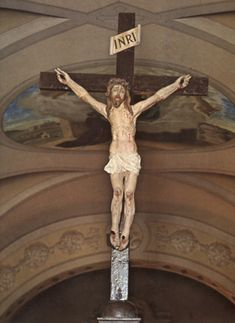 This crucifix, carved out of cypress wood by an unknown artist of the 17th century, depicts Christ in the agony of His Passion. It still hangs in the church of Our Lady of Grace in San Giovanni Rotondo. Padre Pio was praying in front of this crucifix on Friday morning, Sept. 20, 1918 when he received the stigmata. He was the first priest in the history of the Church to receive the stigmata. He carried the wounds of Christ till his death in 1968.