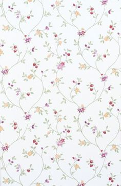 Wallpaper Rasch Blooming Garden satin wallpaper 001177 flowers white green
