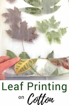 Eco Printing on Fabric - FiberArtsy.com