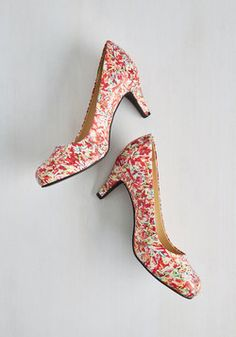 Talk Is Sweet Heel in Sprinkle. Prove theres always room for dessert when you step out in these T.U.K. #multi #modcloth