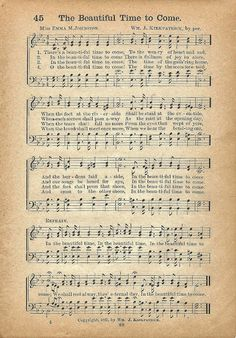Antique Graphics Wednesday - Antique Clock Faces & Hymns - Knick of Time