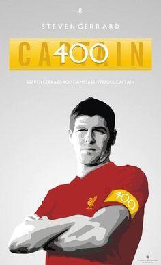 ☼ Steven Gerrard 400 Games as Liverpool FC Captain #LFC #Legend #Artwork