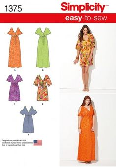 Butterick Ladies Easy Plus Size Sewing Pattern 6465 Button ... Free UK P/&P