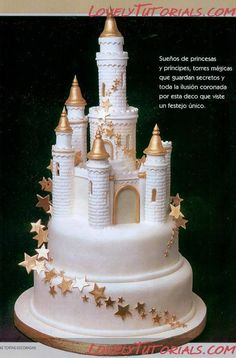 Beautiful castle cake tutorial