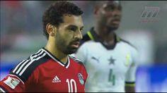 مباراة مصر × غانا تصفيات كأس العالم 13/11/2016 ترقيصة تريزيجيه وهدف محمد...