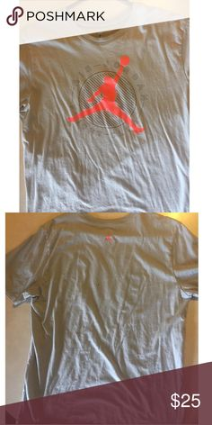 """Air Jordan Men's XL T-Shirt Sorry that it looks so wrinkled in the photos! But this shirt is fresh and shows little, to no age. The design is still crisp with no cracking. Design reads, """" Air Jordan Flight Club """". Men's XL. Make offer ! :) Jordan Shirts Tees - Short Sleeve"""