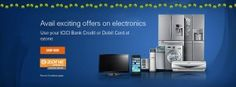Get 5% cashback on home appliances and electronic items at Ezone using  ICICI Bank Credit Card or Debit Card.