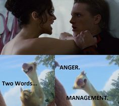 First thing I thought of, watching this part. XD Hunger games/Ice Age 4