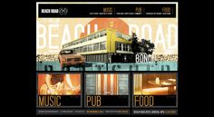 Beach Road Hotel Website by April77 Creative