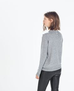 Image 4 of SWEATER WITH JEWEL BUTTON from Zara