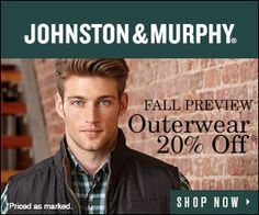 20% Off Men's Outerwear