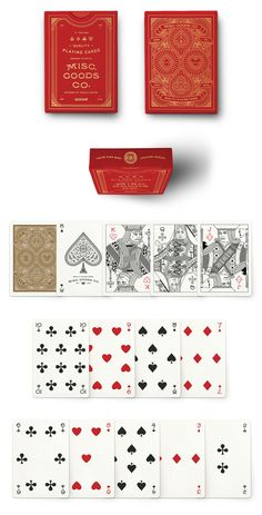 Misc. Goods Co. - custom deck of playing cards that was successfully funded on Kickstarter.