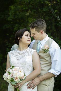 April wedding at The Grove in Aubrey, TX! #ShootingStarrPhotography www.thegroveaubreytexas.com #NorthTexasVenue #WeddingVenue #AprilWedding #OutdoorCeremony #PeachFlorals #LaceWeddingDress #NorthTexasBride #Engaged